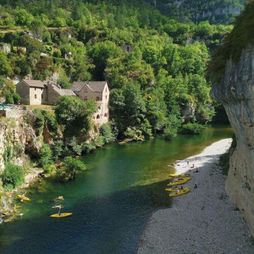 Uitzicht op de Gorges du Tarn