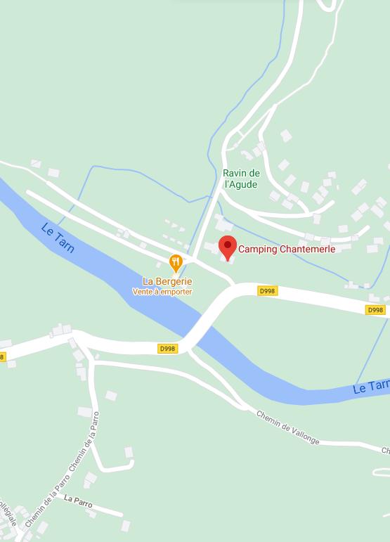 Kaart van de camping
